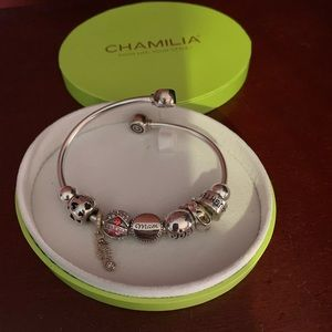 Chamilia bracelet with all the beads included